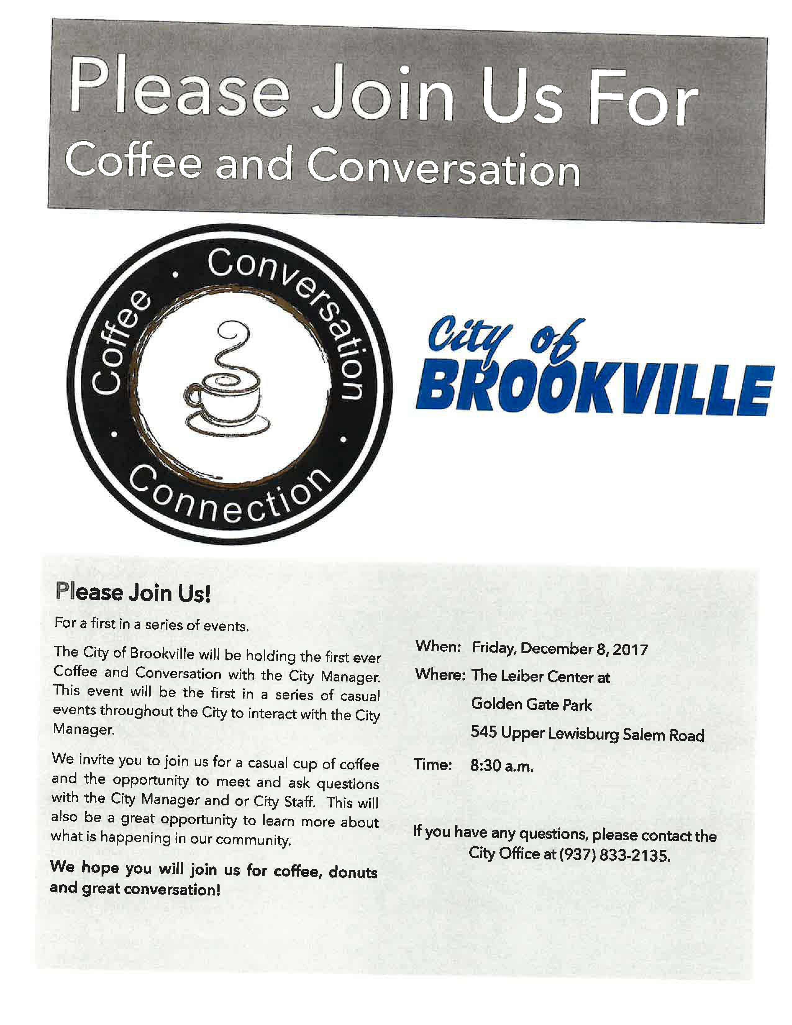 coffee and conversation invite