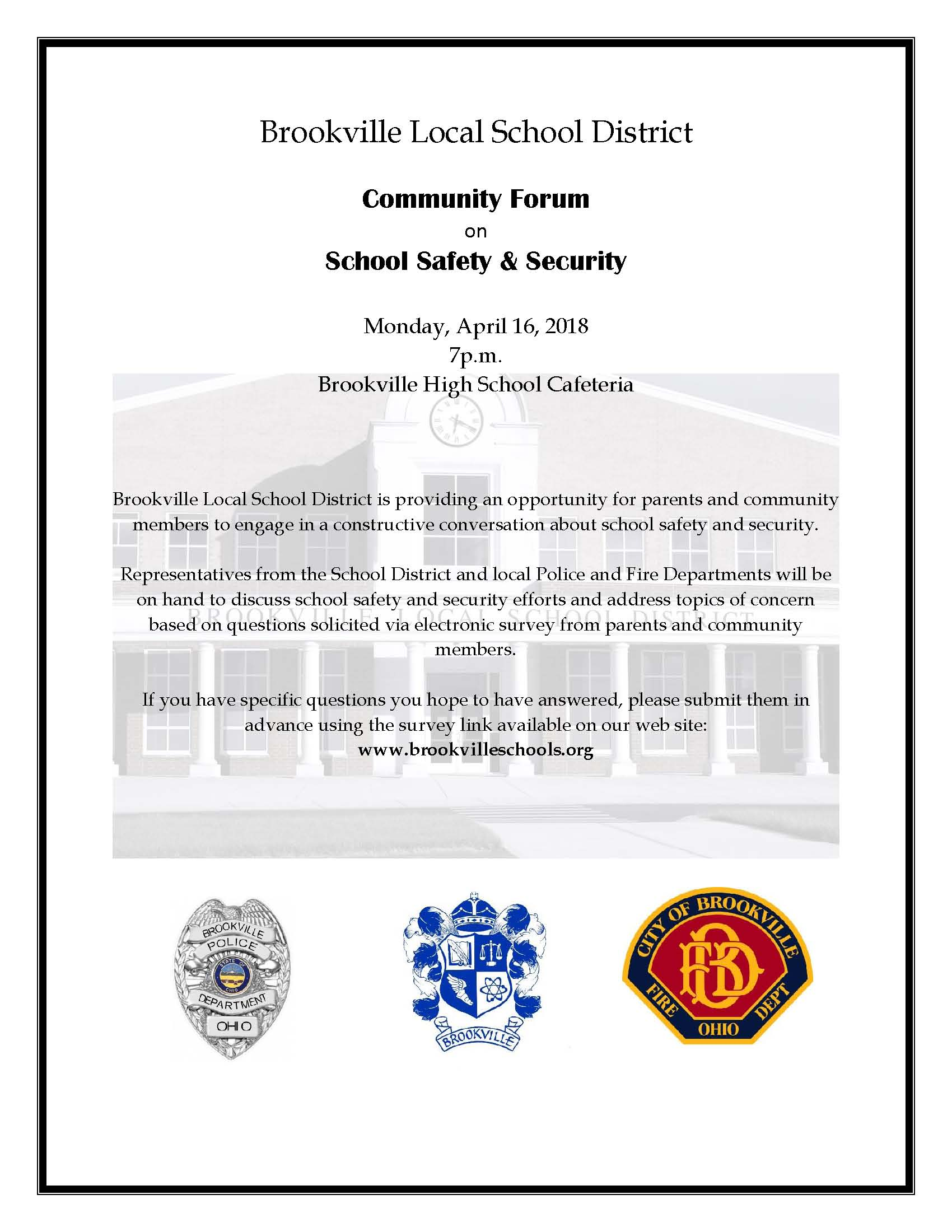 Brookville Local School District Community Forum Flyer - Final