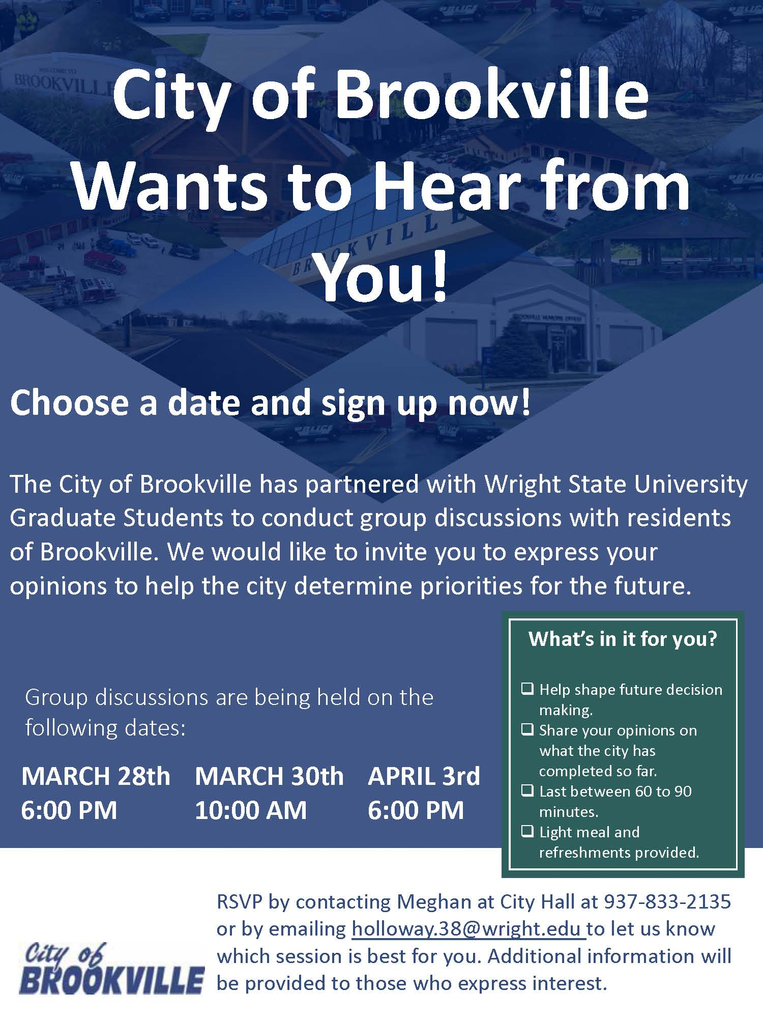 Brookville Flyer - focus groups