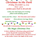 Christmas in the park flyer